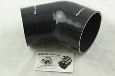 SILICONE HOSE 45 DEGREE REDUCER BEND 3.5-4 INCH BLACK 89MM-102MM GOLEBYS PARTS