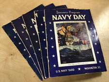 Lot of 5 Vintage Navy Day Souvenir Programs - U.S. Navy Yard Washington Dc