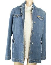FACONNABLE Women's XL Denim Jacket Jean Blue Blazer