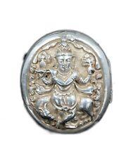 Rare Antique Silver Beautiful Repousse Hindu God Krishna Box/Locket. G10-68 US