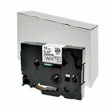 Schriftbänder für Brother P-Touch TZE-231 8m/12mm Schwarz auf Weiss