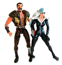 "MARVEL Legends SINISTRE 6 Spiderman cattivi KRAVEN & BLACK CAT 6"" Figure Set"