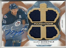 RARE! MARK SCHEIFELE 2016/17 UD THE CUP FOUNDATIONS QUAD JERSEY AUTO #/15