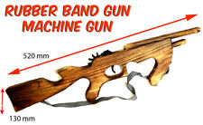 Rubber Band Gun Timber Tommy Machine Gun Launcher Wooden Toy BRAND NEW