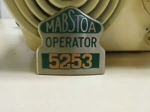 Vintage MABSTOA Operator Bus Driver's Hat Badge