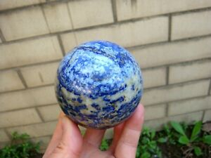 """72MM 2.8"""" Lapis Lazuli Crystal Natural Stone Healing Sphere Ball OVER 500G"""