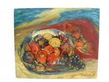 "SOURDILLON BERTHE (1895-1976) ""COUPE DE FRUITS"" HUILE EXPRESSIONNISTE -TOILE1950"