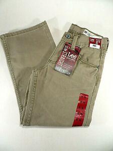 Lee Jeans Tan Pants Sears Straight Slim Boys Size 8R NWT