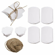 100X Craft Paper Pillow Box Gift Cake Bread Candy Wedding Party Favor Bag DIY