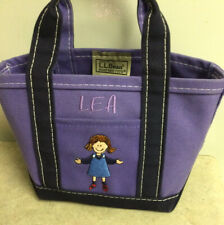 Ll Bean Mini Tote Personalized Name Lea Boat & Tote Bag Little Girl Prpl Lea