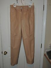 Mens Tan Leather Pants size 34 NWOT