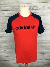 Men's Adidas Archive Series T-Shirt - Medium - Red & Navy - Great Condition