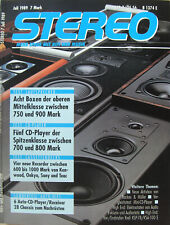 Stereo 7/89 Krell KSP-7B KSA-100E, Sony D-20, Audio Exklusiv P 3S, B+M AFB 3