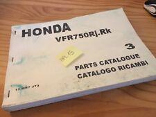 Honda parts list VFR750R J K VFR 750 R catalogue pièces détachées édition 3