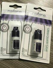 2 x Nailene Ultra-Quick Nail Glue Clear 3g