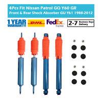 4PCS Fit Nissan Patrol TD42 Y60 Y61 Front&Rear Shock Absorber High Performance