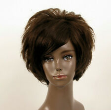 Perruque afro femme 100% cheveux naturel châtain ref LAET 07/6