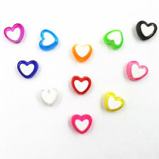 150 Pcs Wholesale Heart Acrylic Beads Jewelry Making Handmade 12 Colors Gift