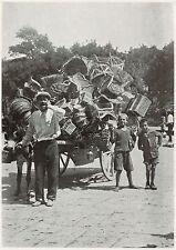 D1843 Napoli - O' Panaro e a' Canesta... - Stampa d'epoca - 1934 old print