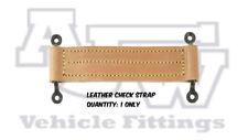 1 X Leather Check Straps C/W Black Staples Coach Bus Emergency Door Kit Car
