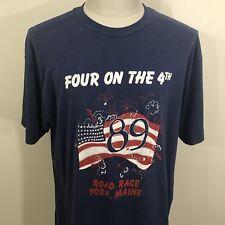 Vtg 1989 4th July Road Race York Maine Thin T Shirt Men's Xl Fit Running 80s