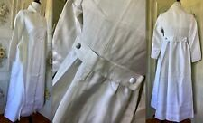 Vtg Nwot Nos 50s 60s White Crisp Cotton Long Jacket Coat Lined Opera Usa Ilgwu