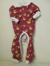 SIZE Small Unisex Dog NEW W/Tags Monkey PJ's Adorable Pajamas One Piece PJs