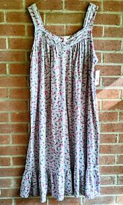 New Secret Treasures Sleeveless Gray Floral Nightgown Size XL