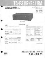 Sony Original Service Manual für TA-F 311R / F 411RA