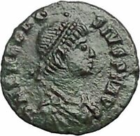 THEODOSIUS I the Great RARE Authentic Ancient  Roman Coin Wreath i54867