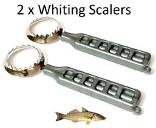 2 x Whiting Scalers Fish Scaler Fish Cleaning Fishing Scalers Bream / Whiting