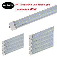 8FT 65W Single Pin FA8 T8 T12 Double Row  LED Tube Light 6500K 85-277V Clear NEW