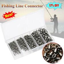 250pcs/Box Fishing Ball Bearing Swivels Solid Ring Hook Connectors Tackle