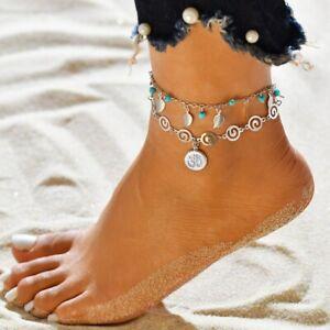 Fashion Women Ankle Bracelet Shell Turtle Anklet Foot Chain Boho Beach Jewelry