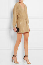 BALMAIN GOLD STUDDED MINI DRESS FR 36 UK 8