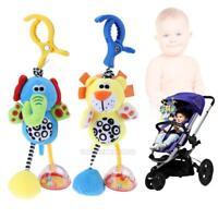 Cute Cartoon Animal Plush Doll Toys Newborn Baby Kids Soft Bed Hanging Toys Xmas