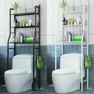 3 Tier Toilet Shelf Bathroom Space Saver Metal Towel Storage Rack Rail Organizer