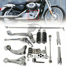 Chrome Forward Control Complete Peg Lever Linkage For Harley Sportster 883 1200