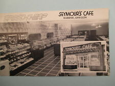 SPEED O MAP SEYMOURS CAFE EUGENE, OR  POSTCARD? A22