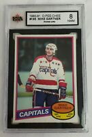 1980 - 1981 MIKE GARTNER ROOKIE GRADED 8 NMM CARD #195 O-PEE-CHEE NHL HOCKEY RC