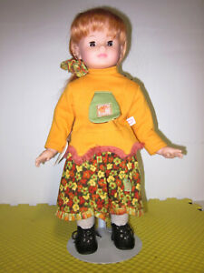 """19""""  Gotz Doll Hannah Long Red Hair, Brown Eyes w/Bavarian Outfit Only Displayed"""