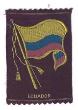 S39 Tobacco Silk Woven Flag Purple Ecuador