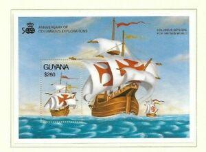 Guyana 1992 Columbus' Explorations min sheet MNH