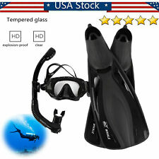 Whale Snorkeling Fin Foot Flippers Diving Mask Snorkel Fins Scuba Equipment Set