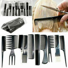 10pcs Plastic MakeUp Comb Professional Hair Combs Anti-static Hairbrush Too W4S7