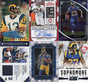 LOS ANGELES/ST. LOUIS RAMS Lot of 10 Football cards, Autograph & Memorabilia
