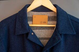 Taylor Stitch The Long Haul Jacket in Indigo Sashiko 42 L