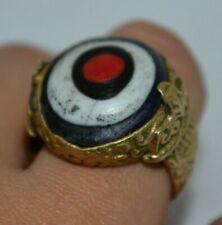 genuine tibetan buddha eye dzi bead ring amulet pure ancient old sakor namkor