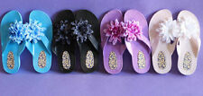 Low (3/4 in. to 1 1/2 in.) Slip On Floral Sandals & Flip Flops for Women
