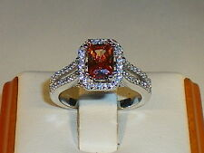 Baguette Anniversary Sterling Silver Fine Gemstone Rings